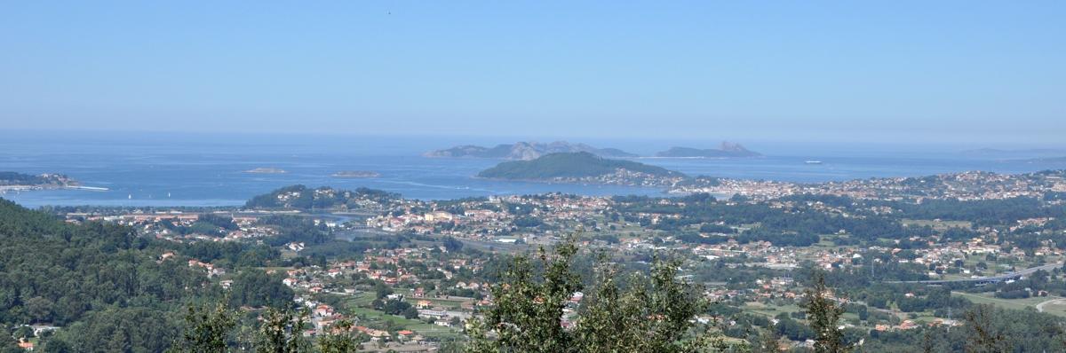 Vista del Val Miñor desde Gondomar